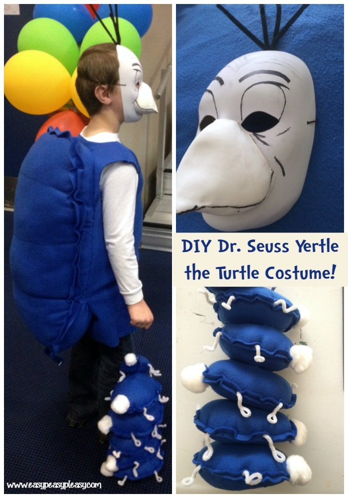 DIY Dr. Seuss Yertle the Turtle Costume for Read Across America Week or Halloween!
