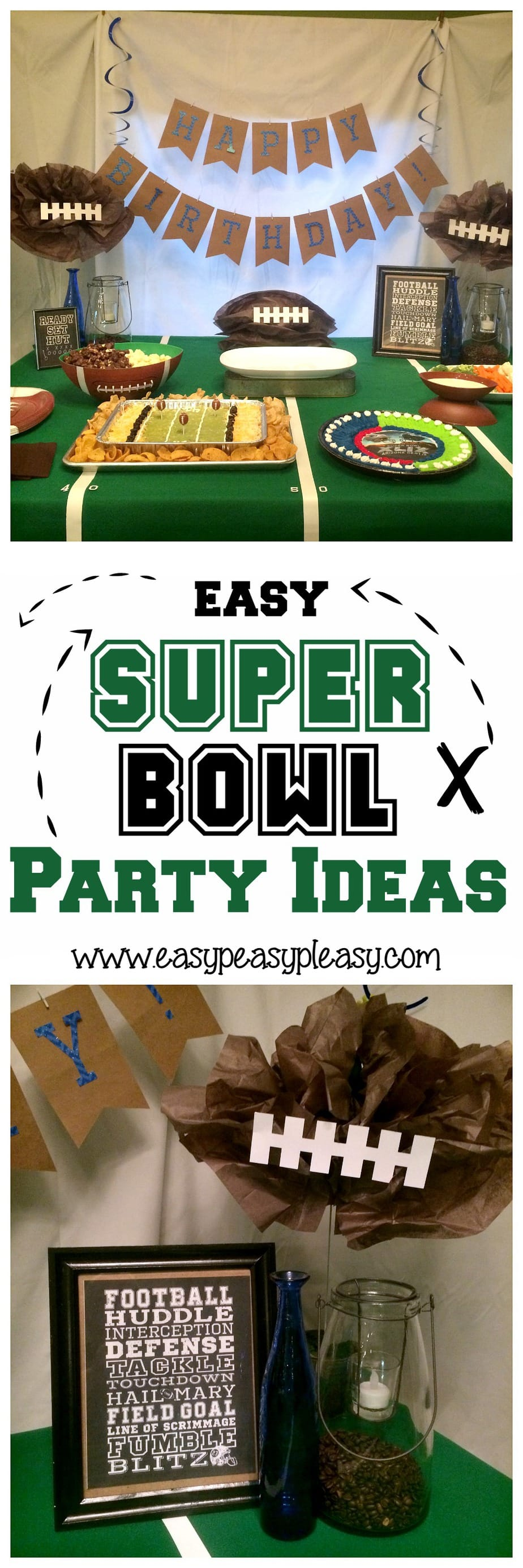 Easy and Inexpensive Super Bowl Party ideas!