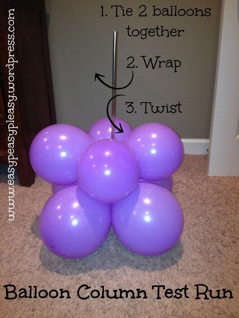 Balloon Column Test Run
