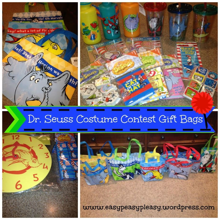 Dr. Seuss Costume Contest Gift Bags