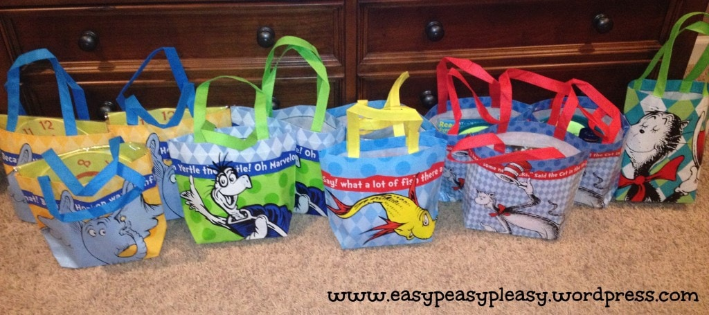 Dr. Seuss Costume Contest Goodie Bags
