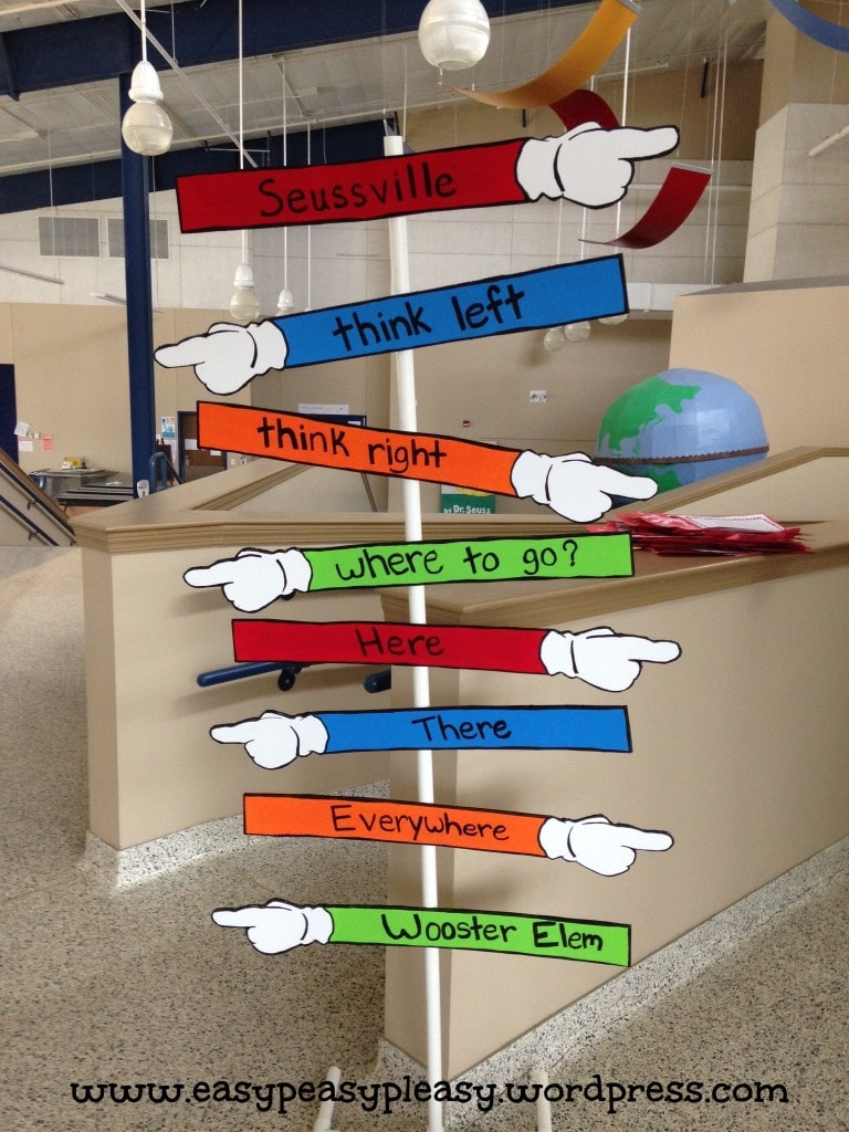 DIY Dr. Seuss Direction Sign
