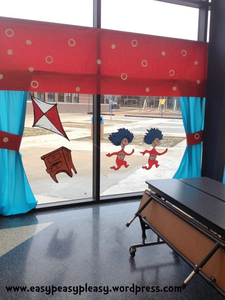 Dr. Seuss flying a kite