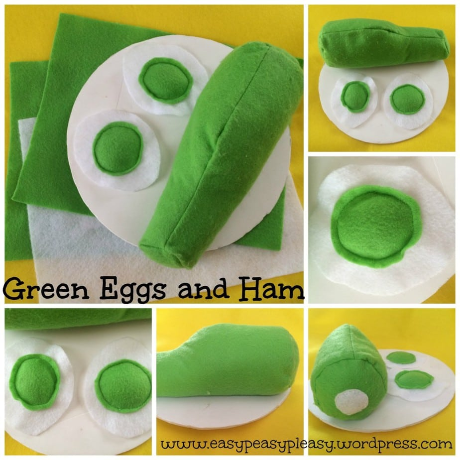 DIY Dr. Seuss Green Eggs and Ham Costume Collage