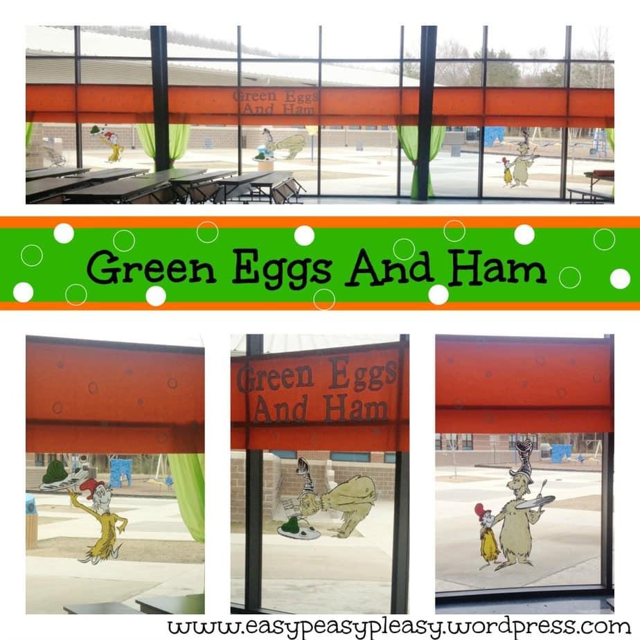 DIY Dr. Seuss Green Eggs and Ham School Decorations