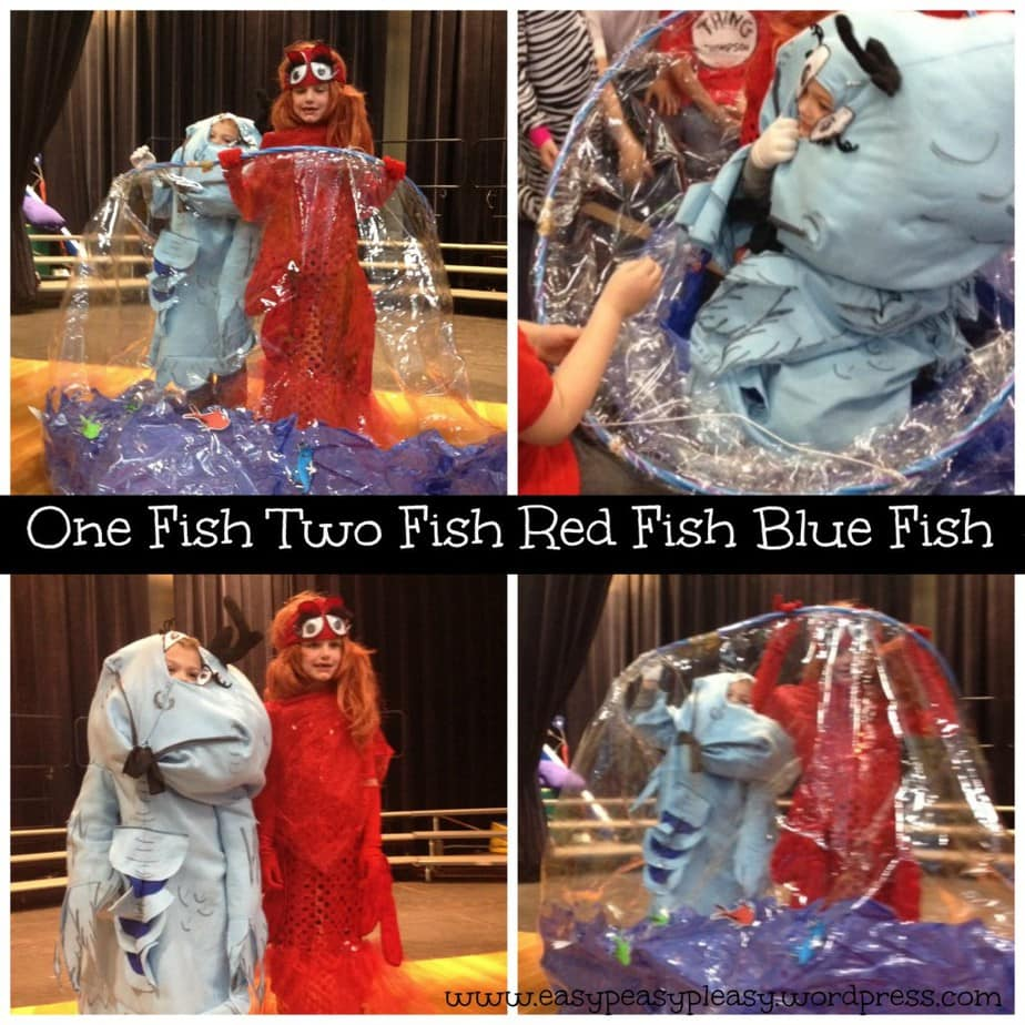 Dr. Seuss One Fish Two Fish Red Fish Blue Fish Costume Collage