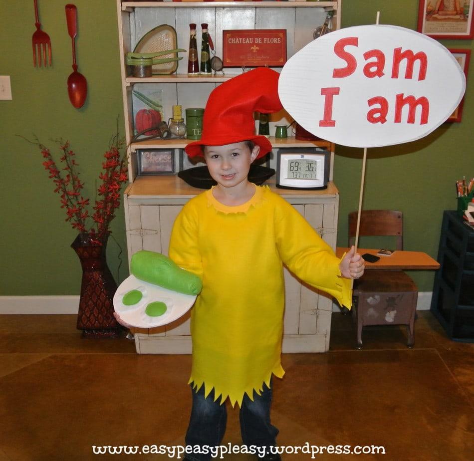 DIY Dr. Seuss Sam I am costume