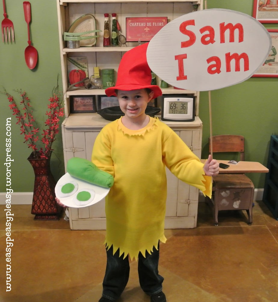 Dr. Seuss Sam I am costume sign