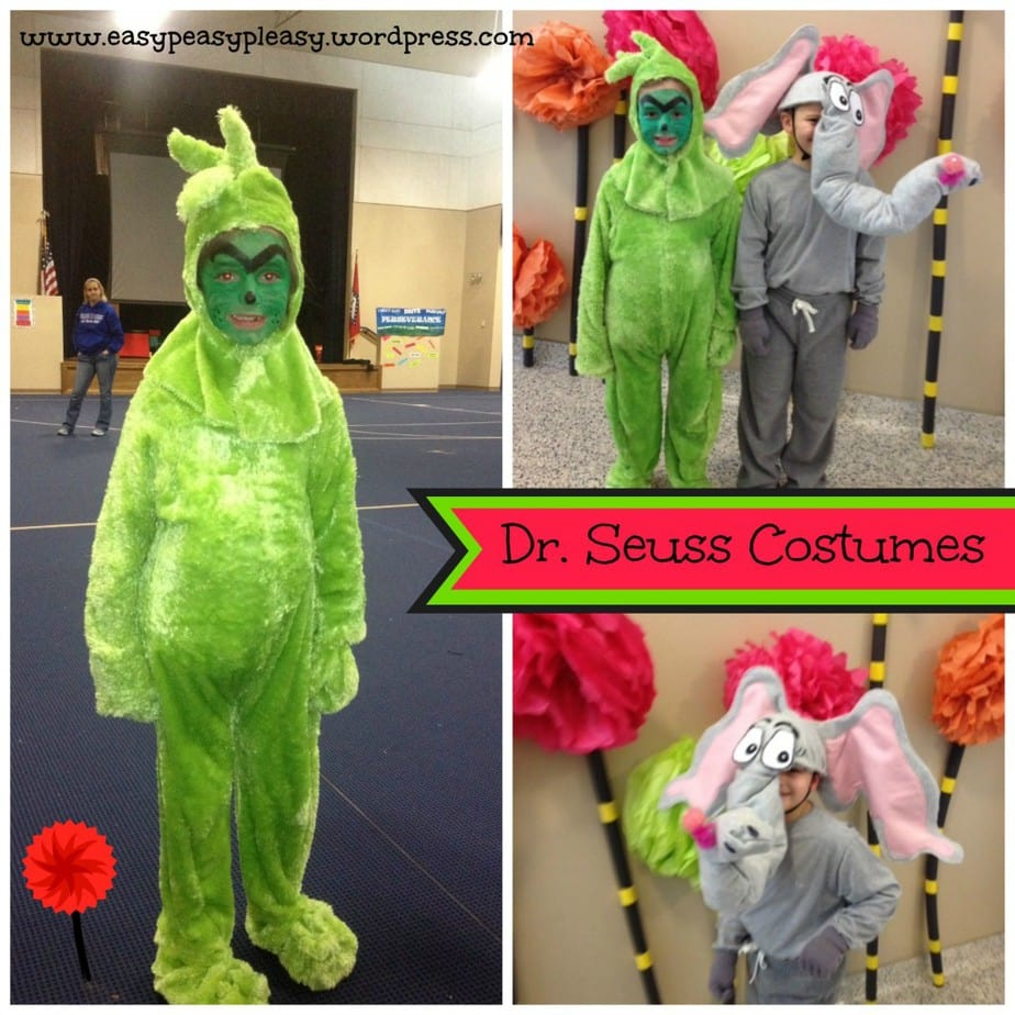 Dr. Seuss the Grinch and Horton Costumes Collage