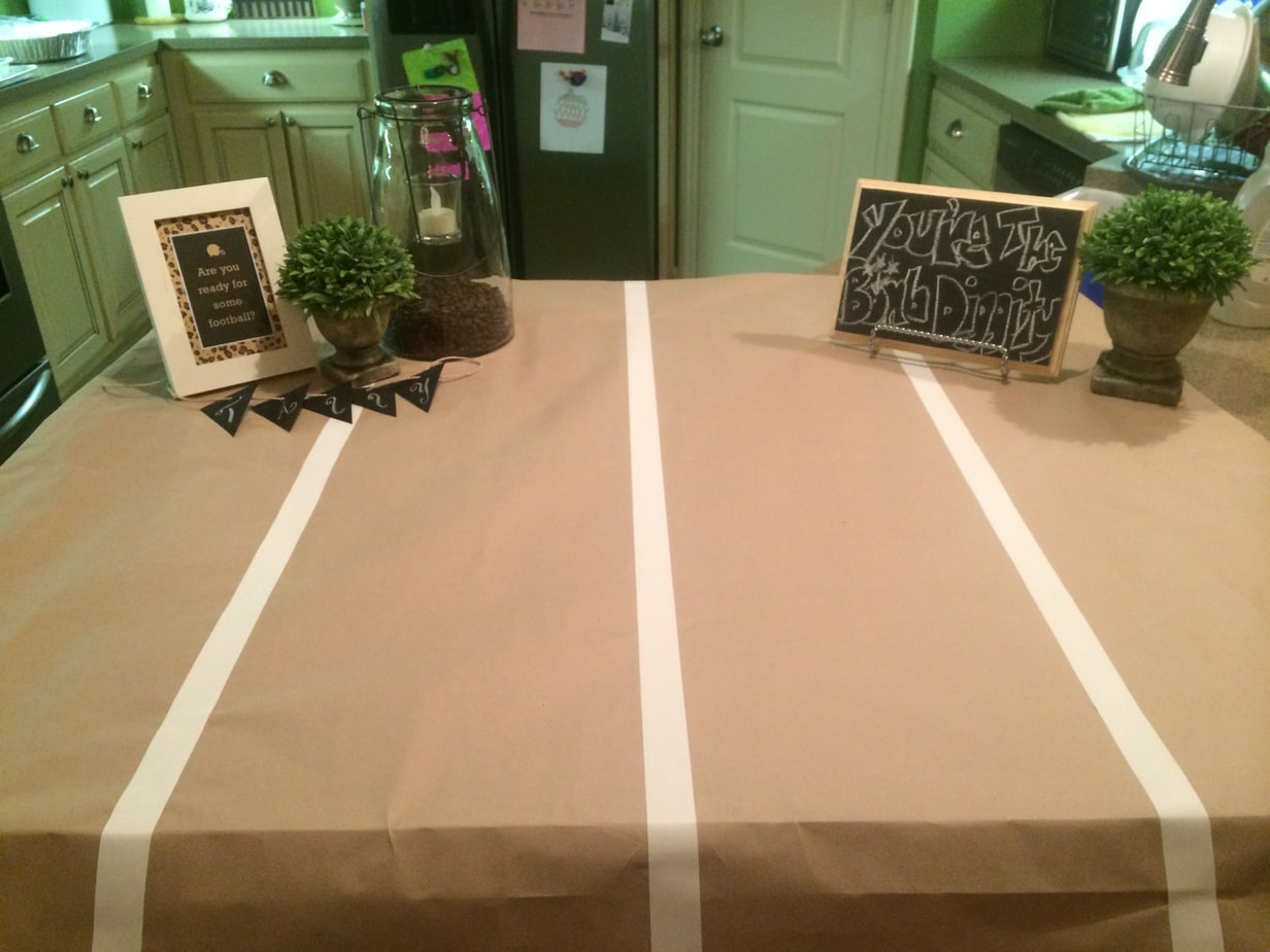 Football Party Cake Tablescape