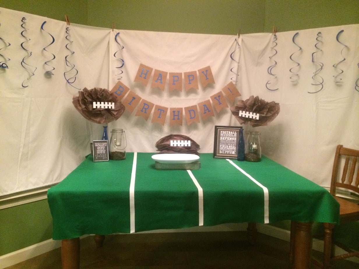 Football Party in the making