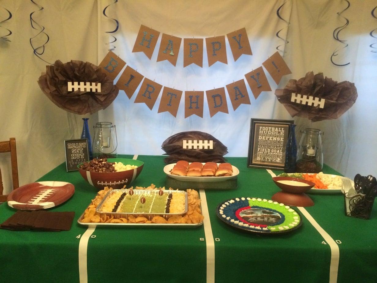 Football Party Table Decor