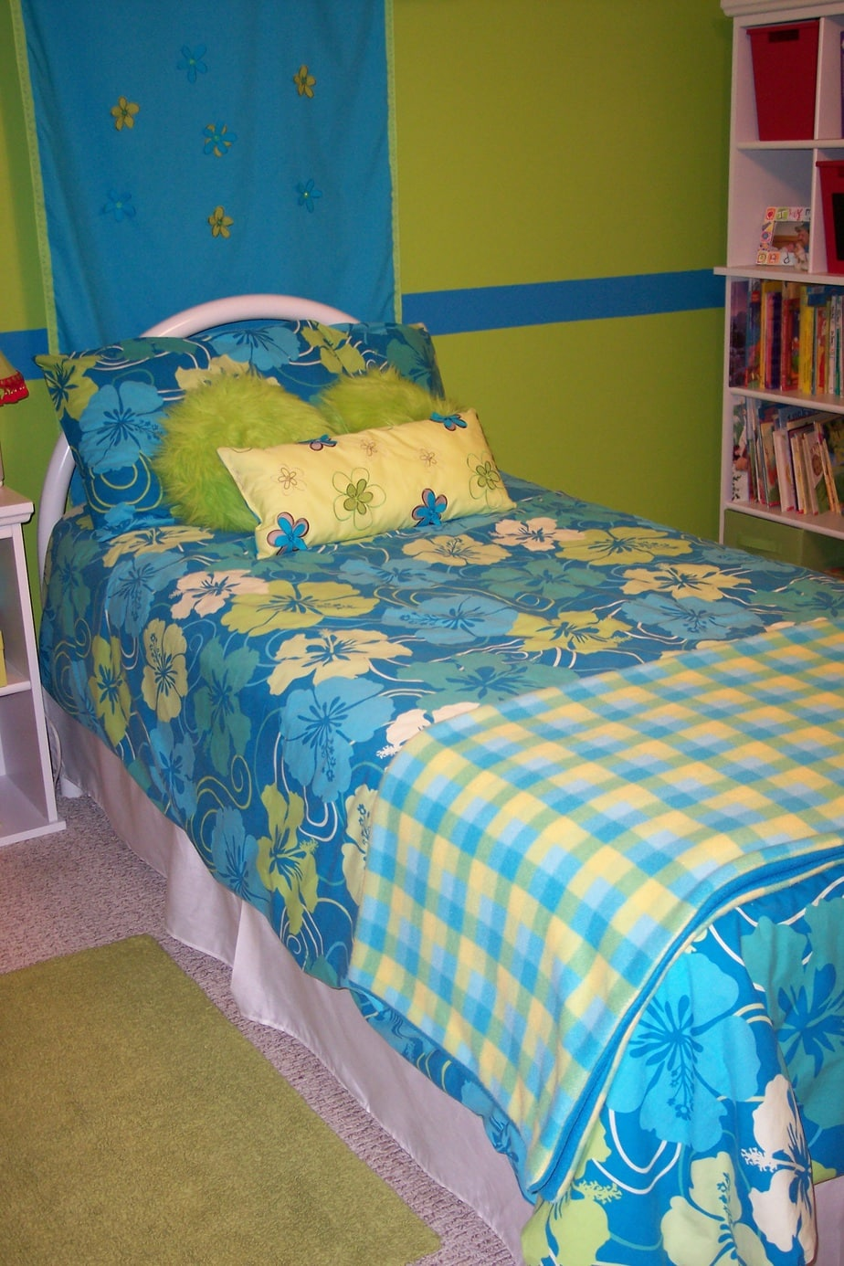 Girls bedroom on a budget bedding