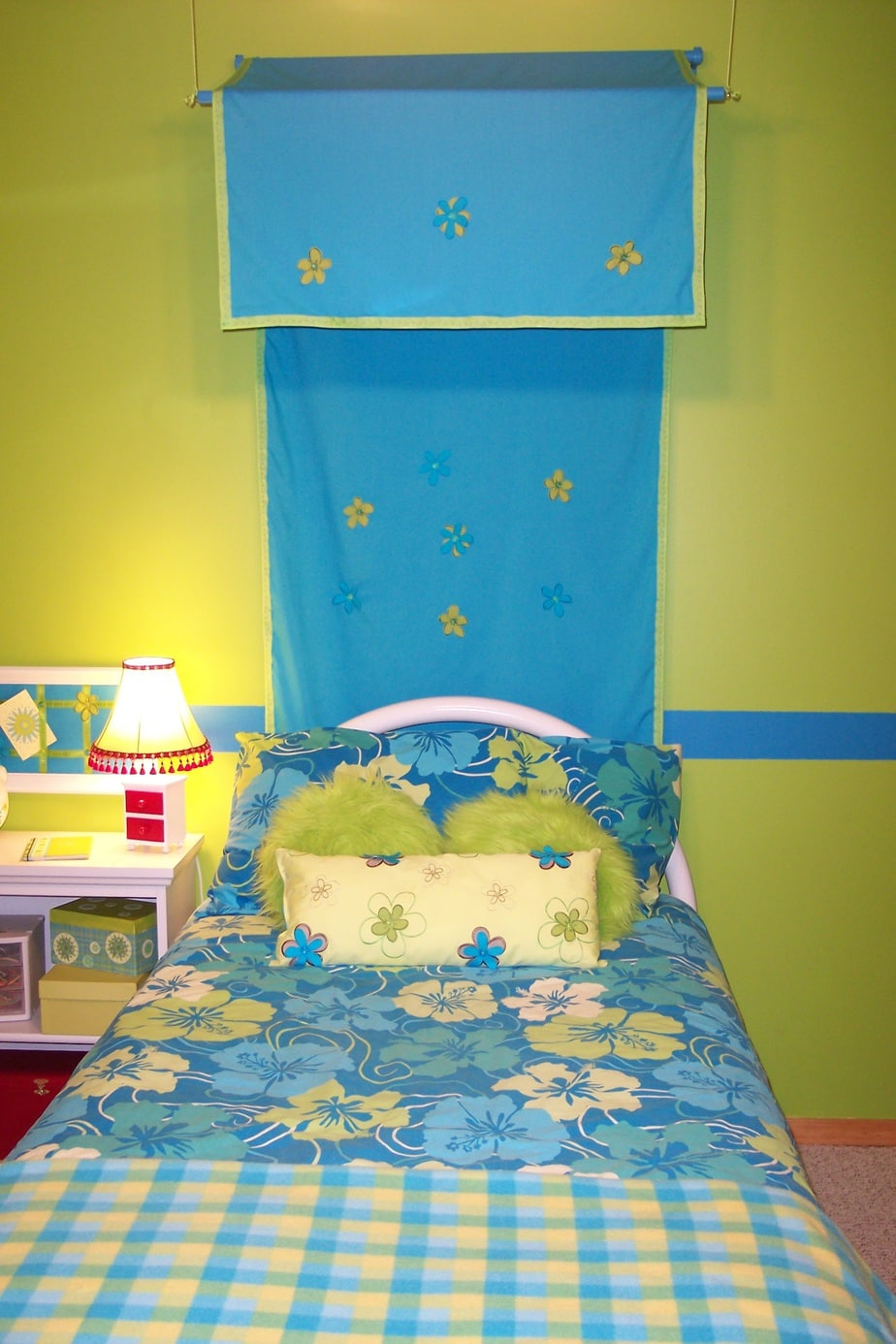 Girls bedroom on a budget canopy and bedding
