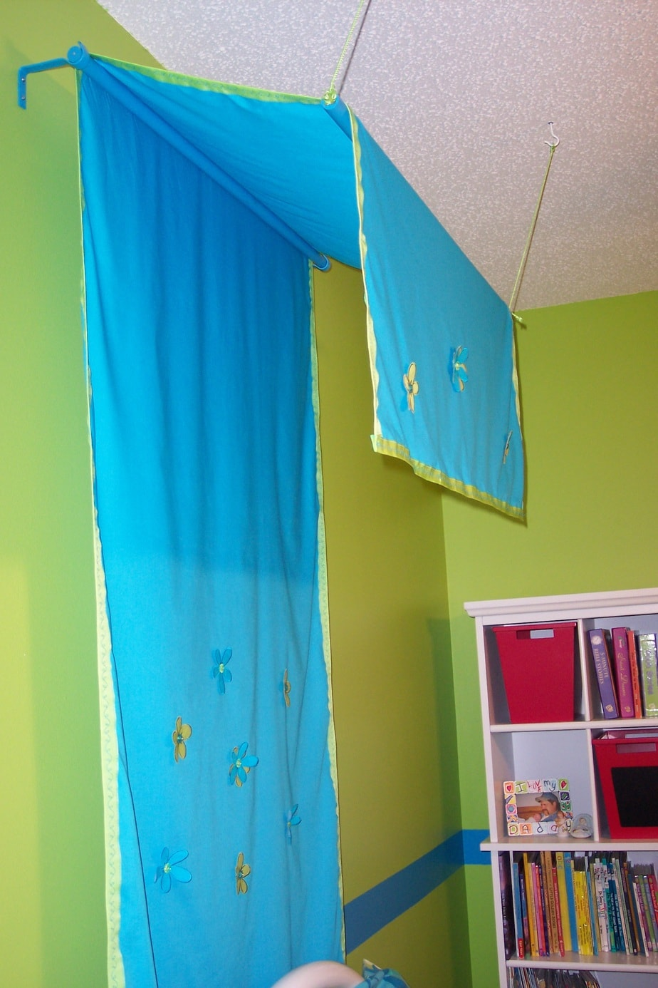 Girls bedroom on a budget canopy sideview