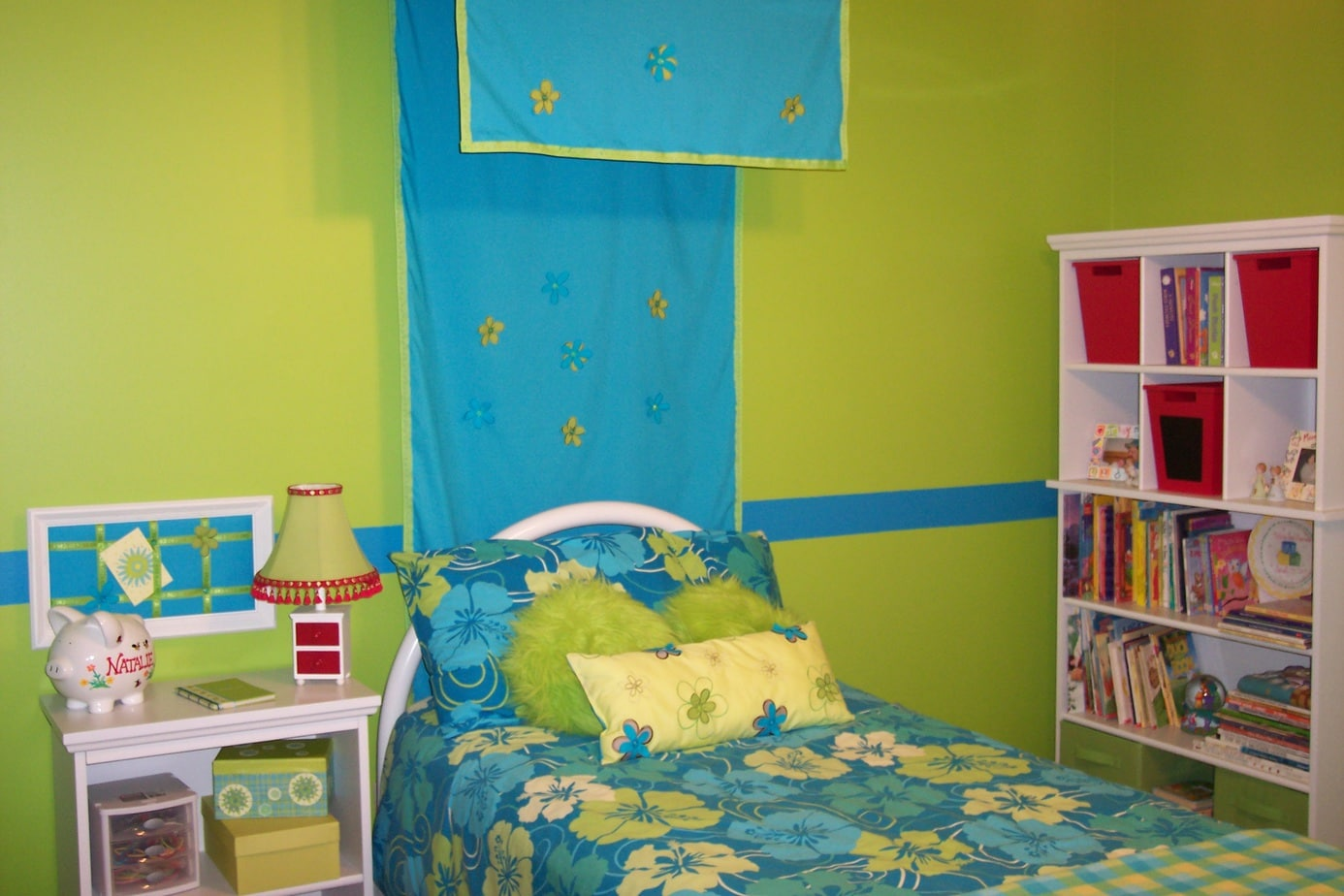 Girls bedroom on a budget completed look