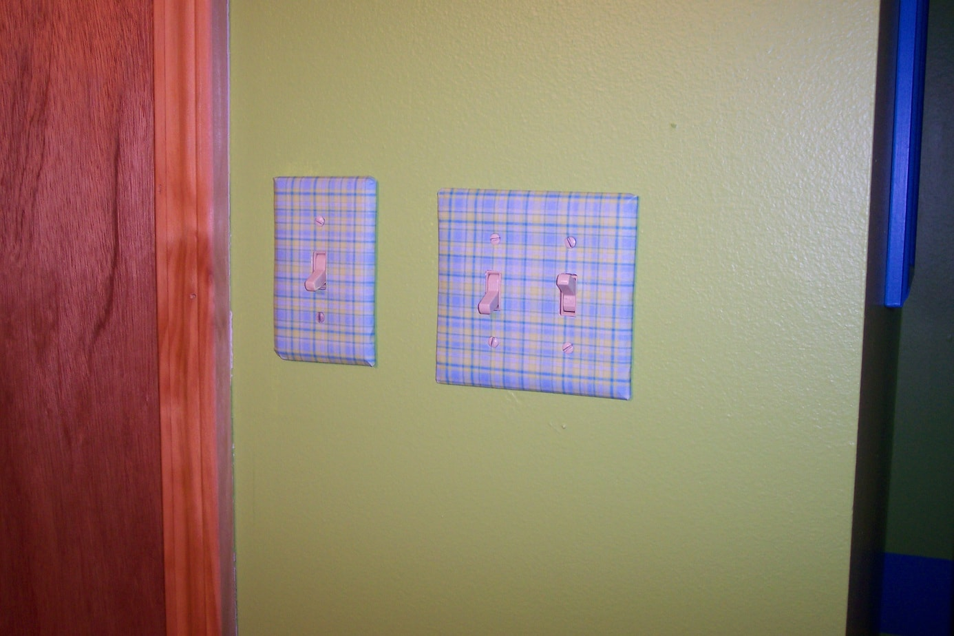 Girls bedroom on a budget light switch plate