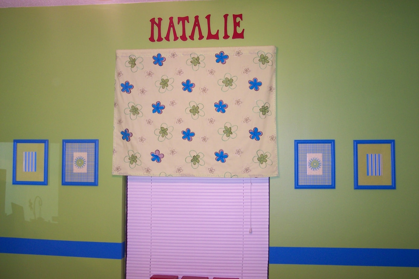 Girls bedroom on a budget wooden letters paint stripe