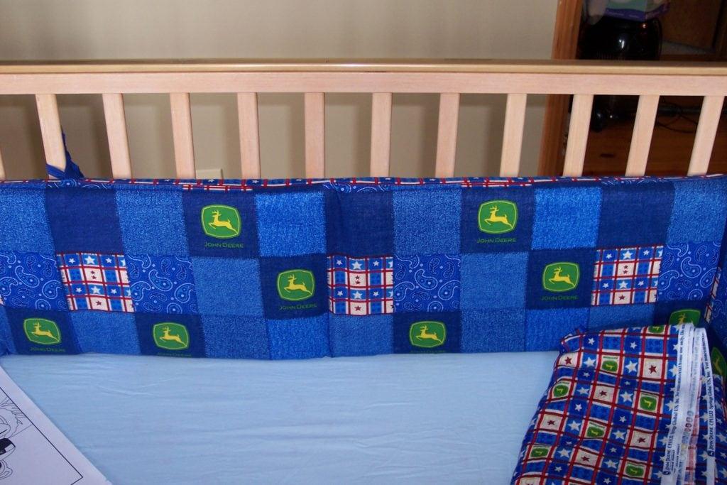 John Deere crib bumper pad