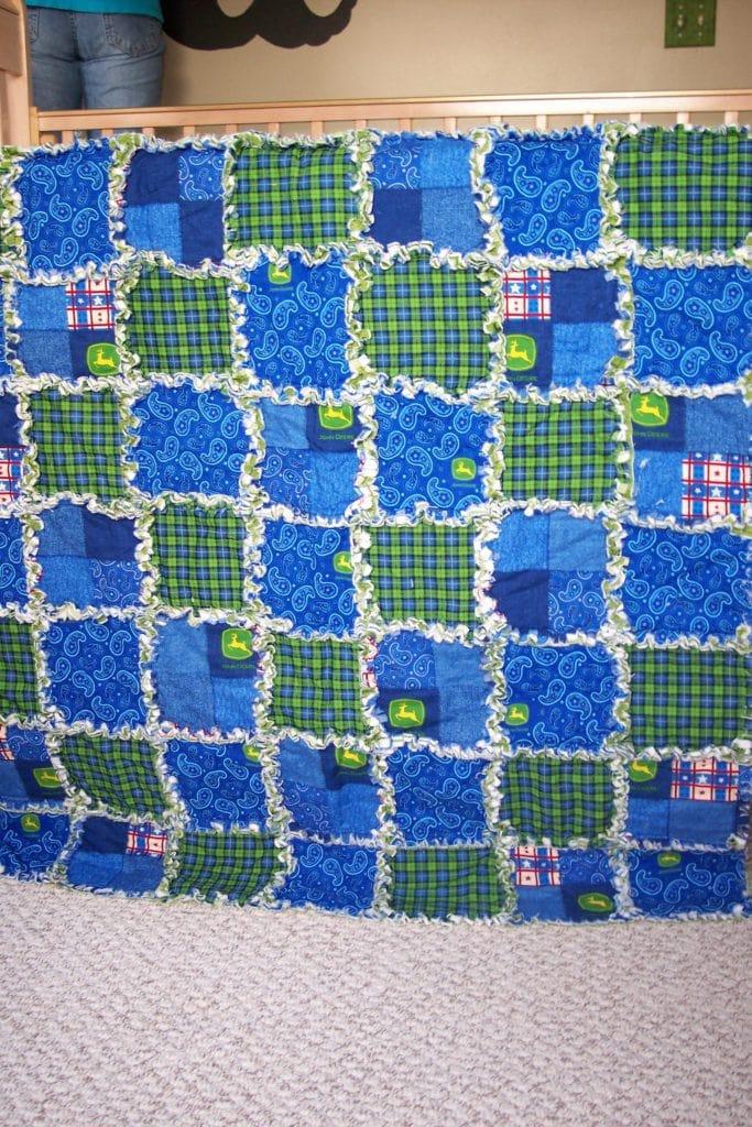 John Deere rag quilt