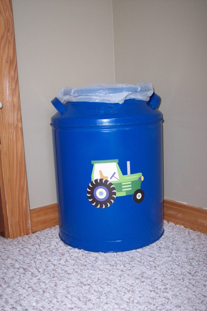 John Deere trash can