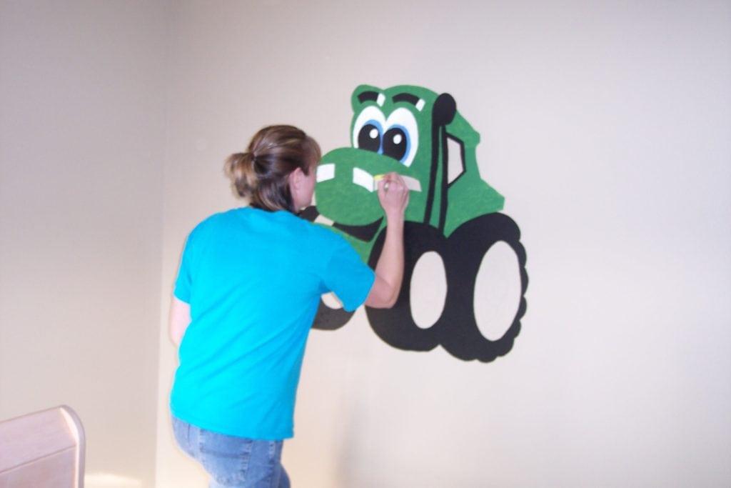 John Deere wall mural