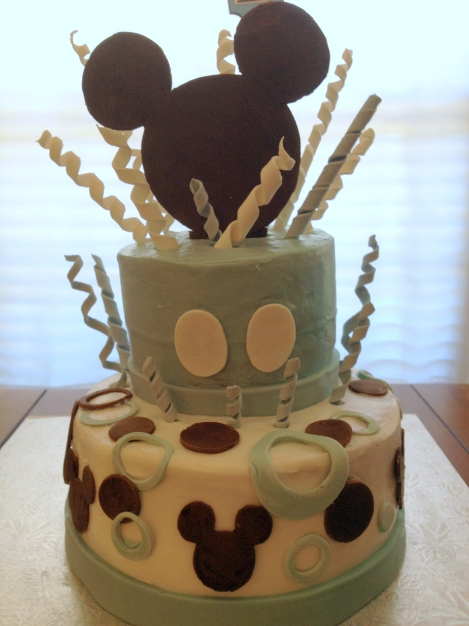 ... Mickey Mouse Baby Shower Cake