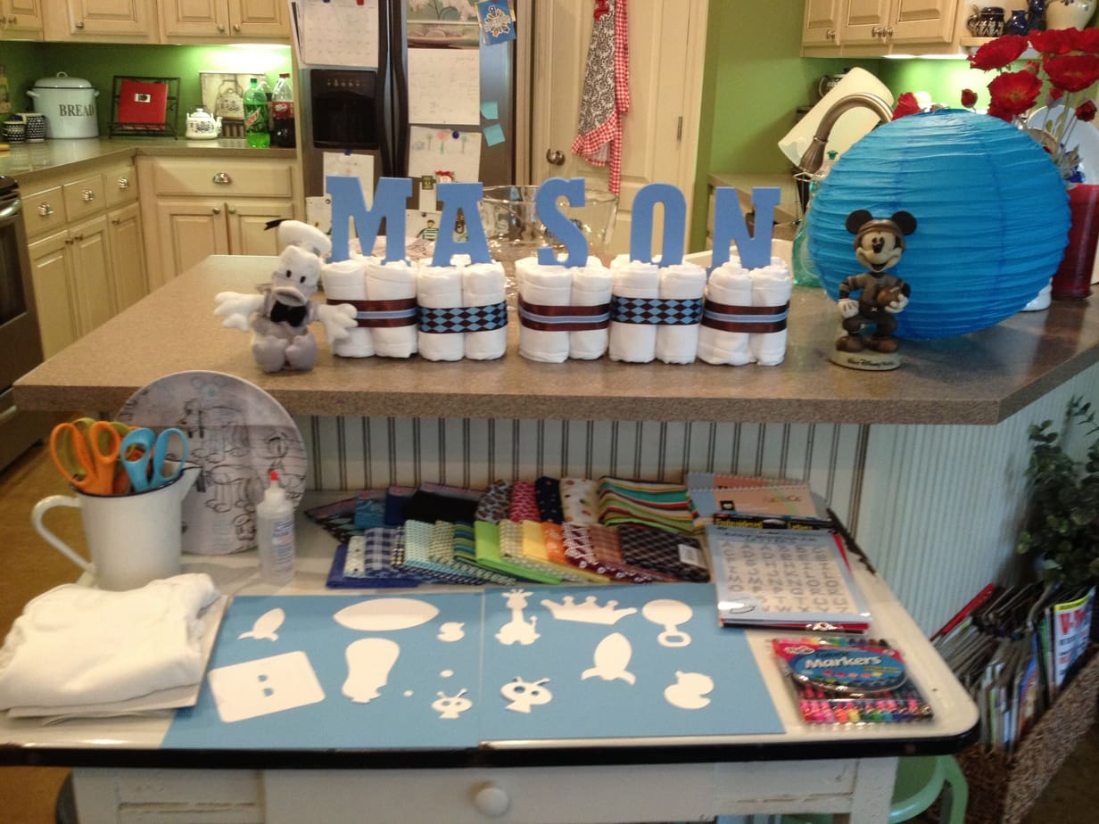 Baby Shower Room Set Up Ideas ... Set Up Idea. Mickey Mouse Inspired Baby Shower Easy Peasy Pleasy