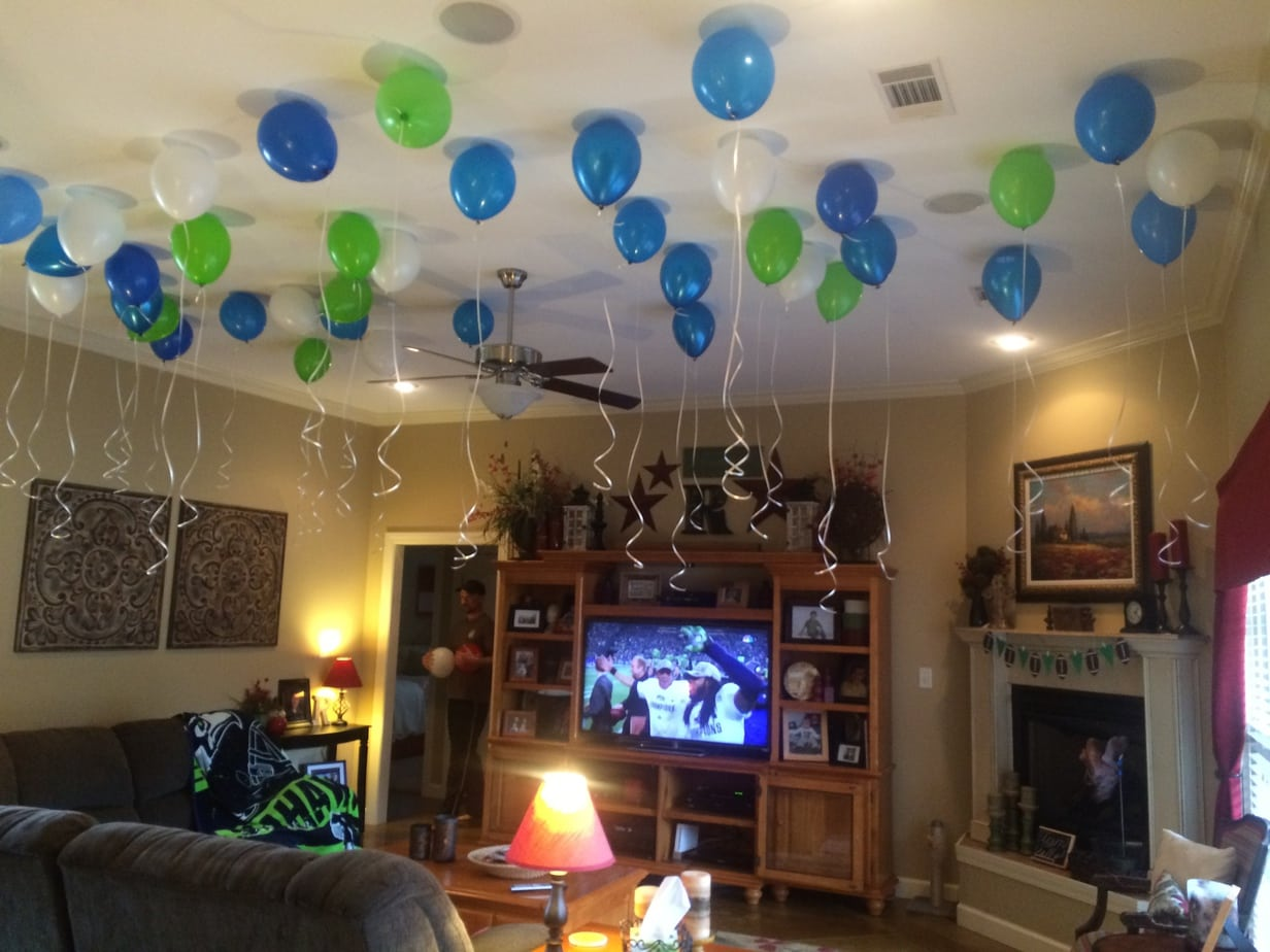 Superb Super Bowl Football Birthday Party Balloons