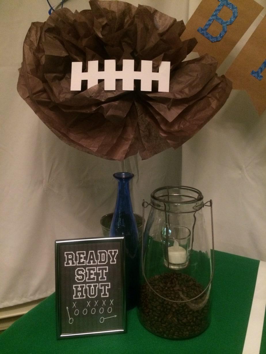 Super Bowl Football Birthday Party football poms