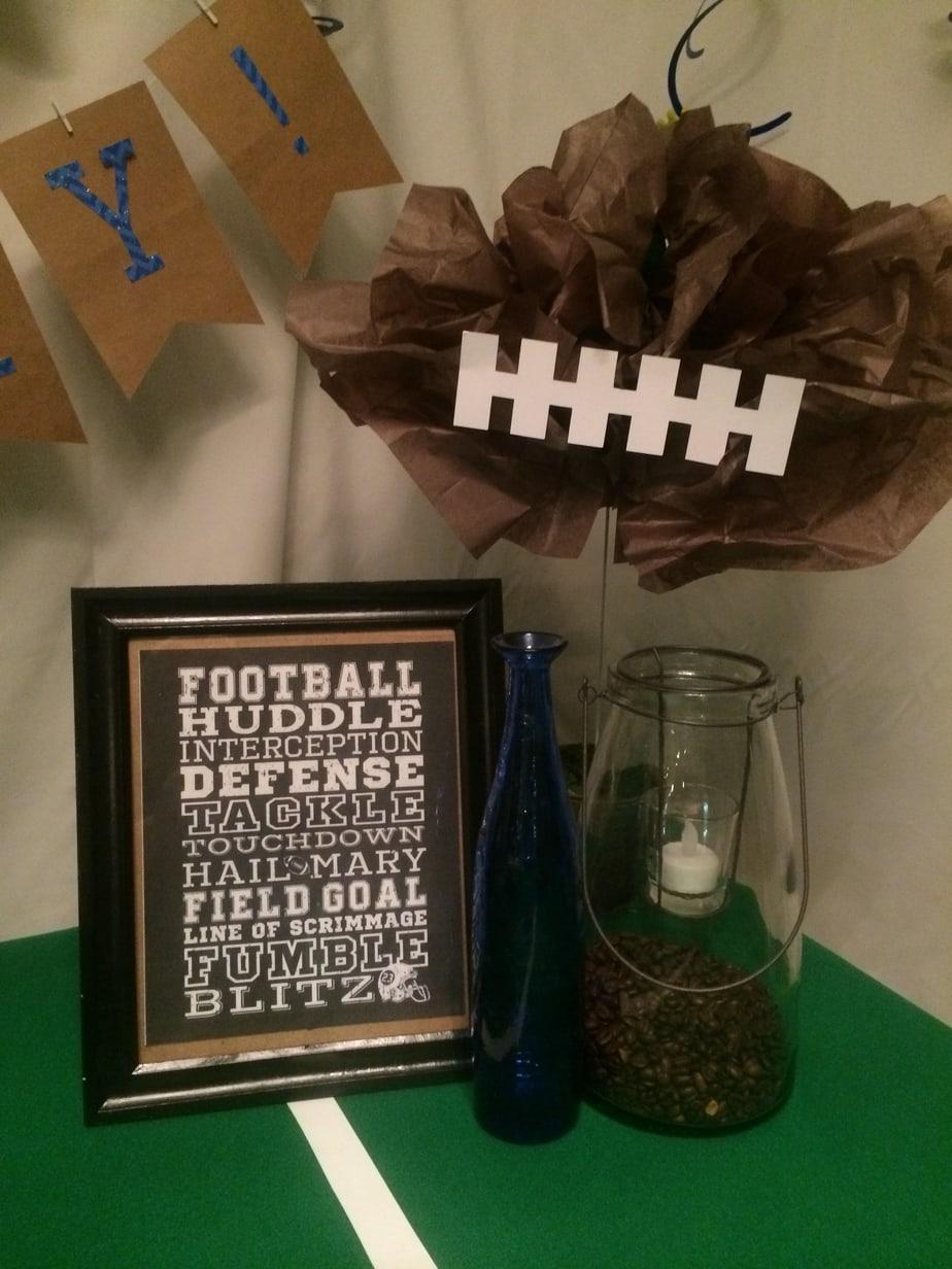 Super Bowl Football Birthday Party printable
