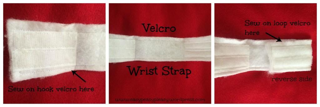 Velcro wrist strap collage