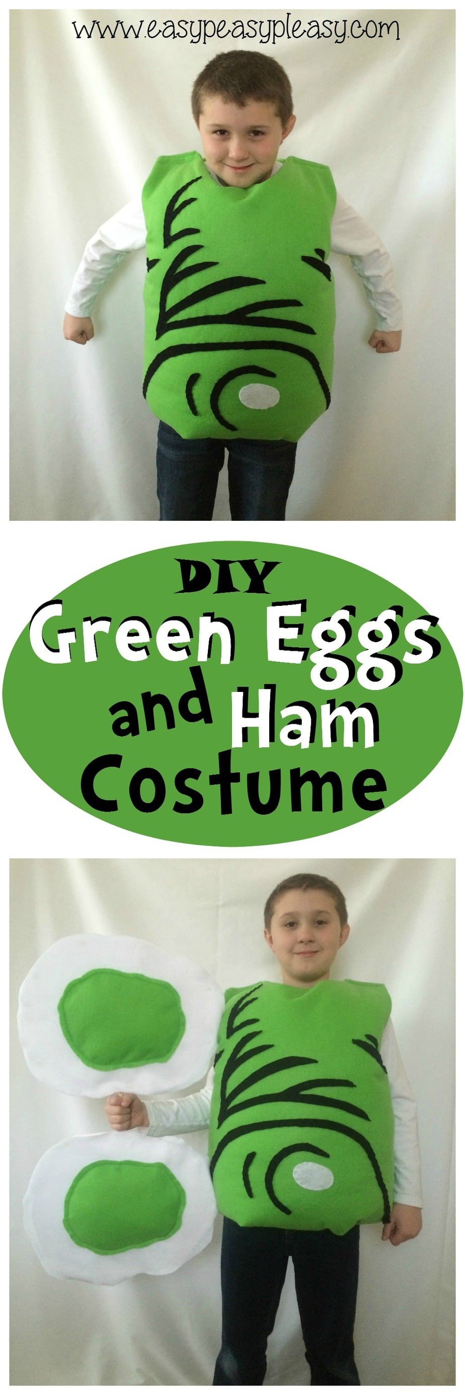 DIY Green Eggs and Ham Costume is perfect for Dr. Seuss week at school or as a Halloween Costume!
