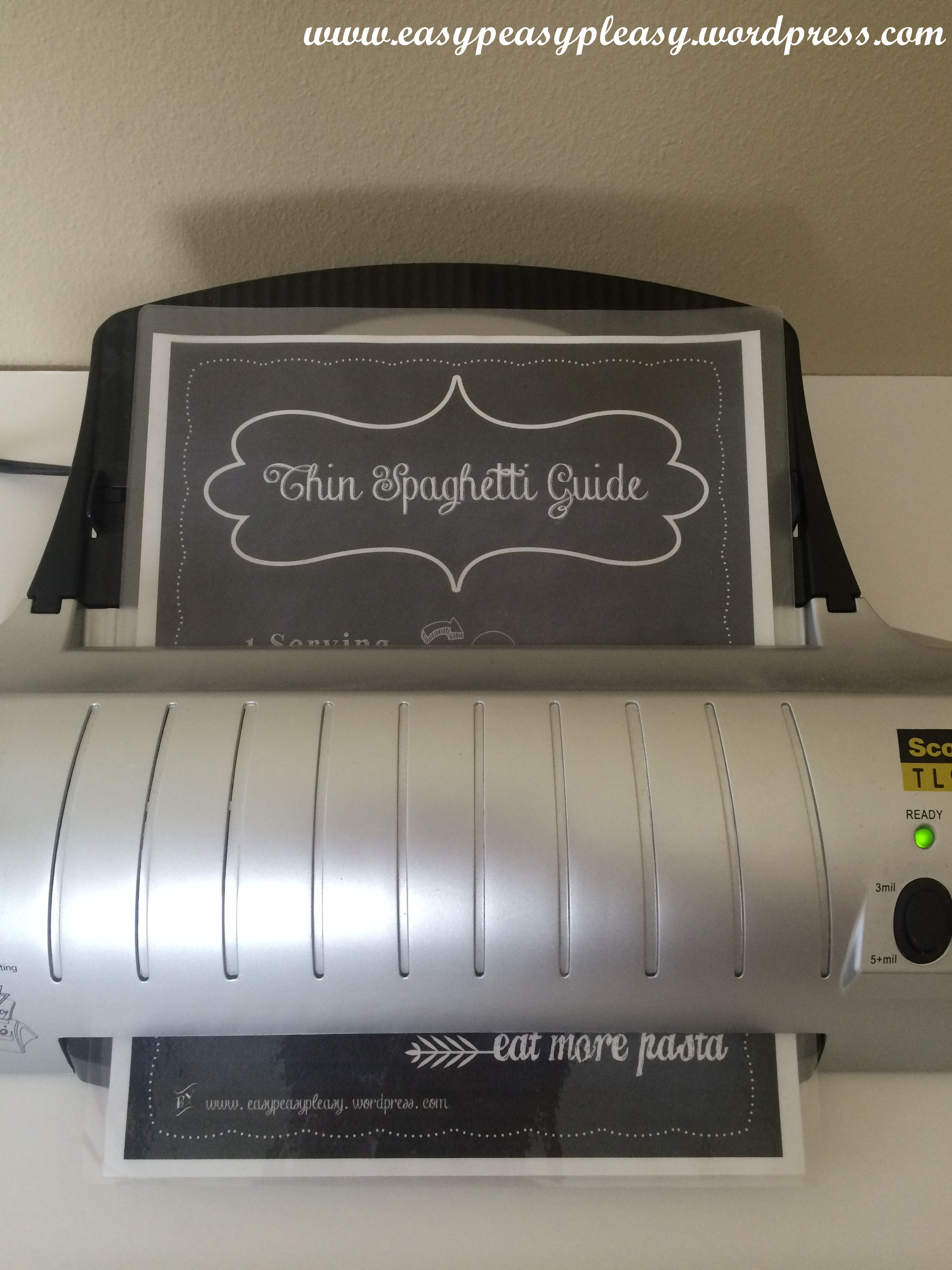 A quick run through the laminator will make this printable easy to wip down.