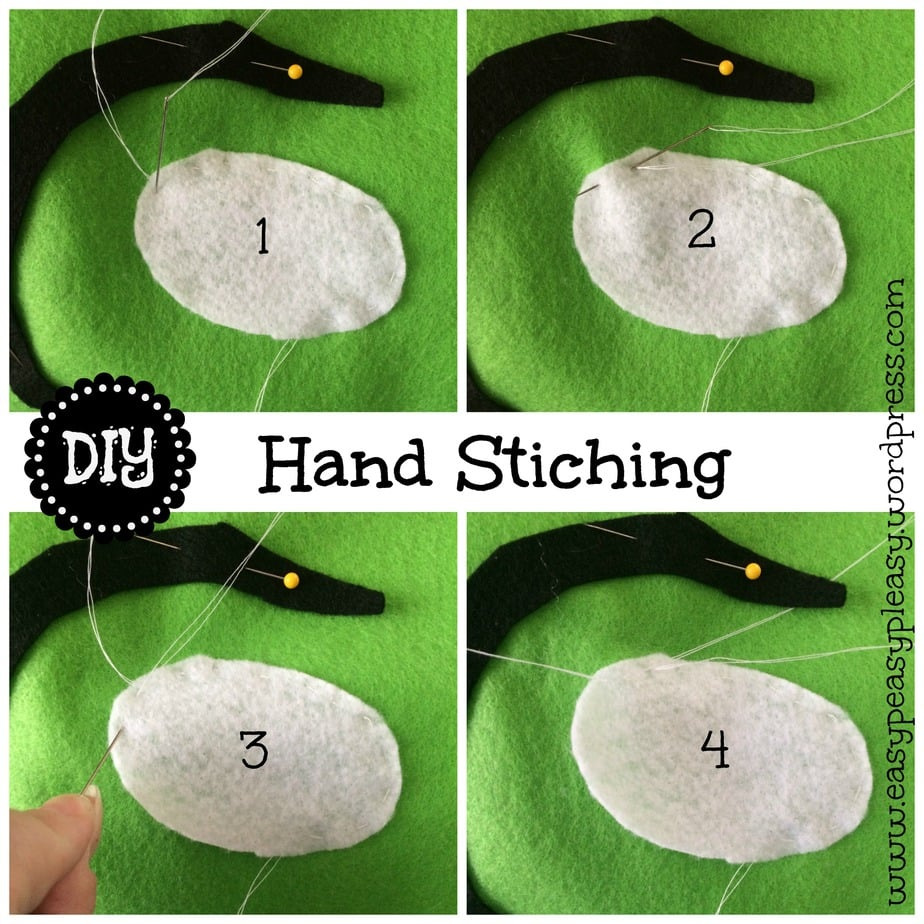 DIY Hand Stitching Dr. Seuss Sam I am Green Eggs and Ham Costume collage