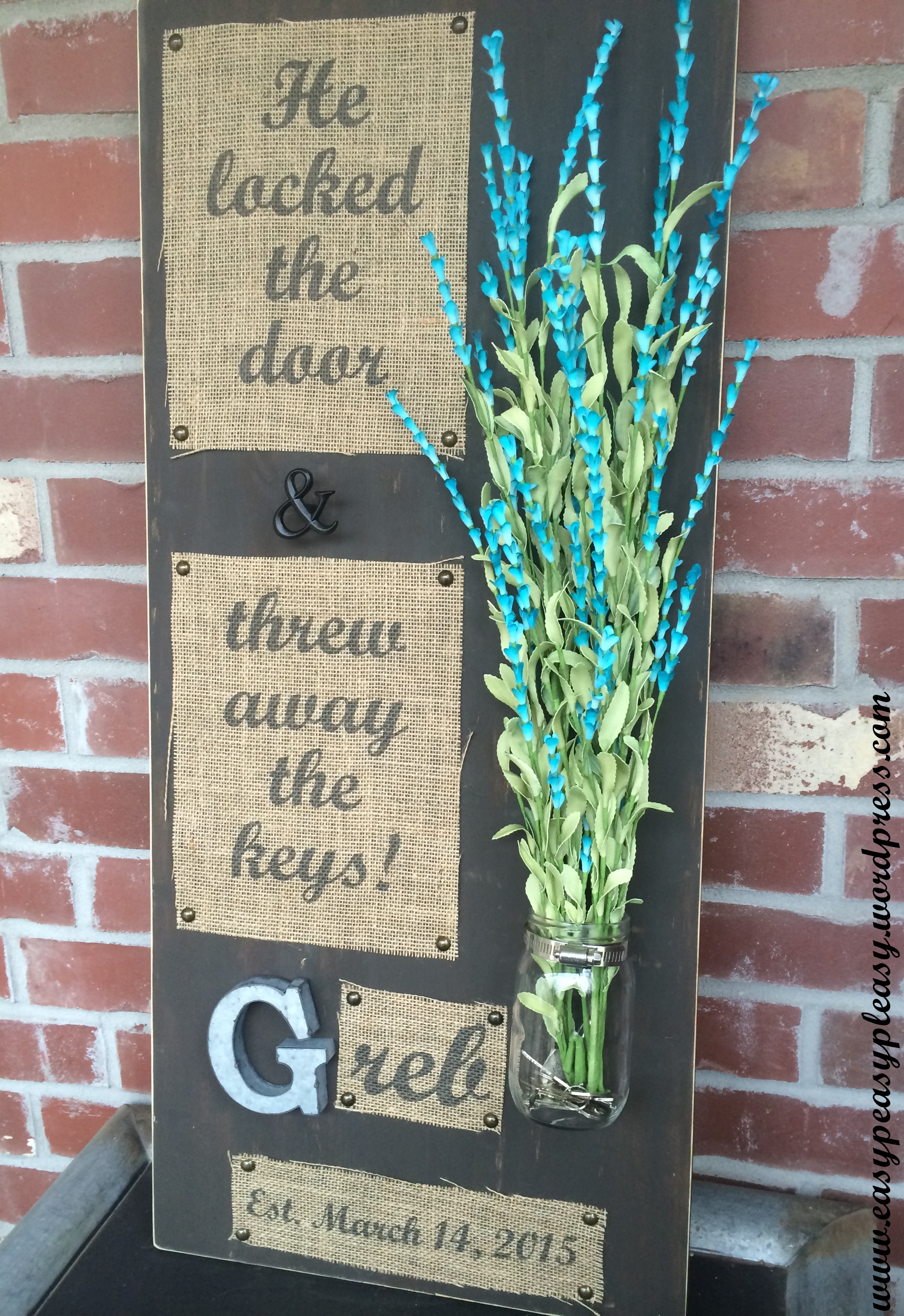 DIY Wedding Gift He Locked The Door And Threw Away The Keys