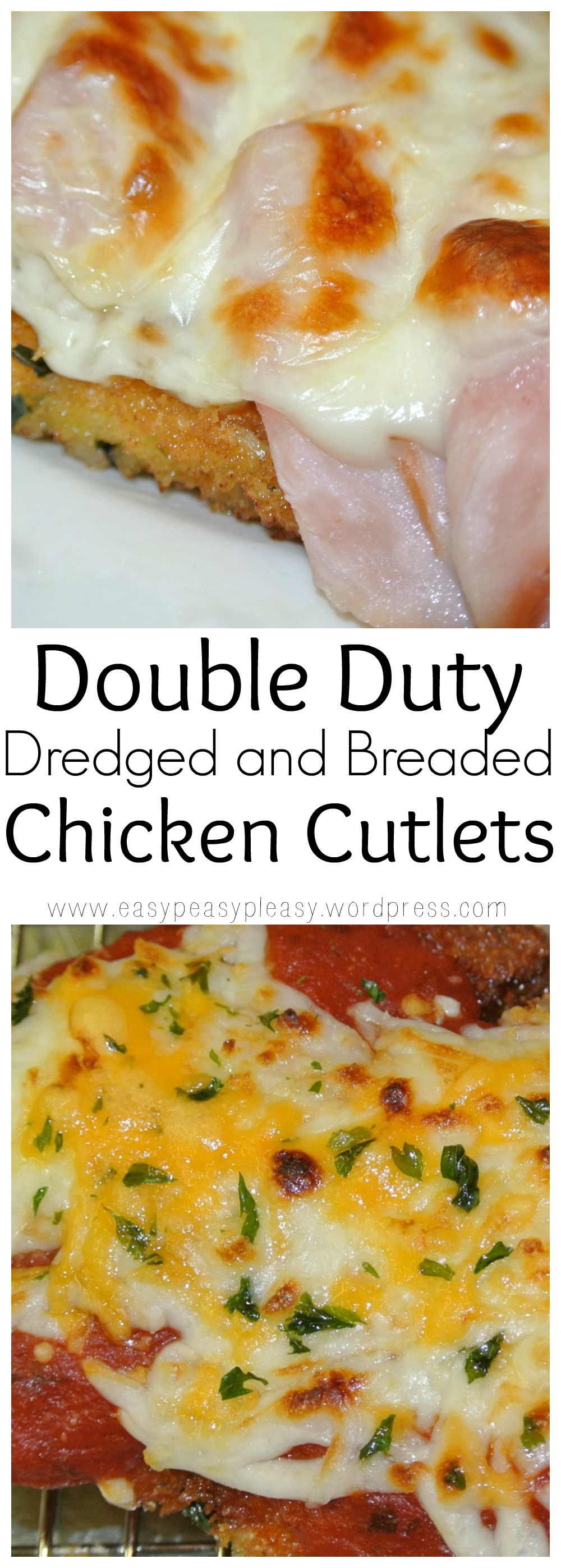 Double Duty Dredged and Breaded Chicken Cutlets Recipes at https://easypeasypleasy.com