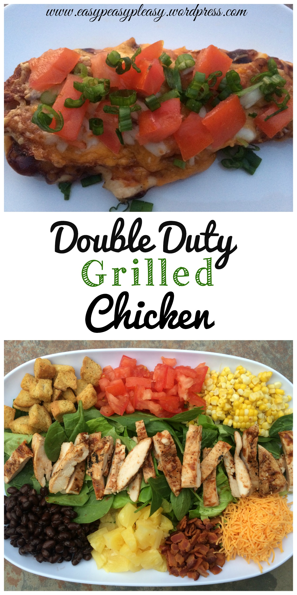 Double Duty Grilled Chicken Recipes at https://easypeasypleasy.com