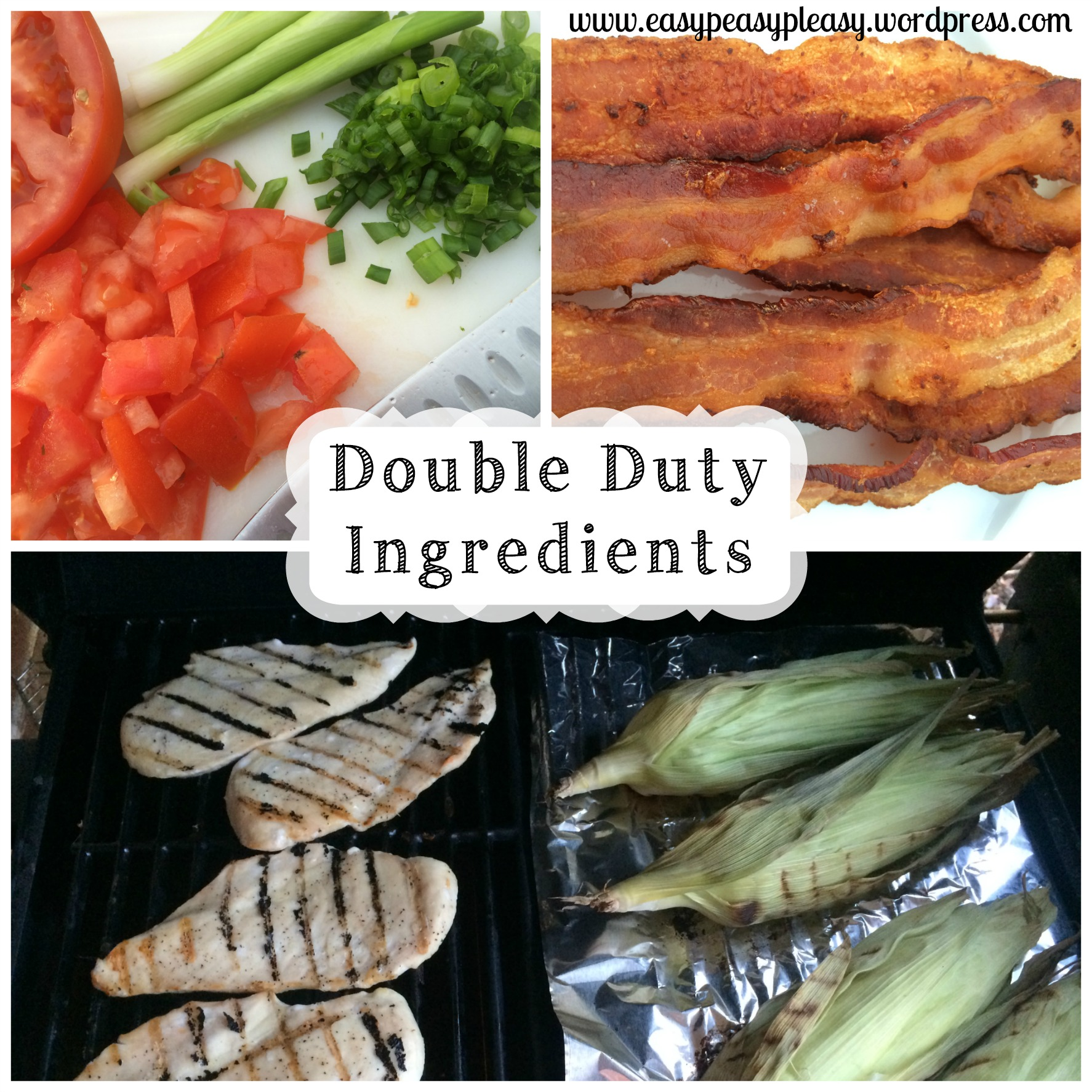 Double Duty Ingredients for Double Duty Grilled Chicken Recipes at https://easypeasypleasy.com