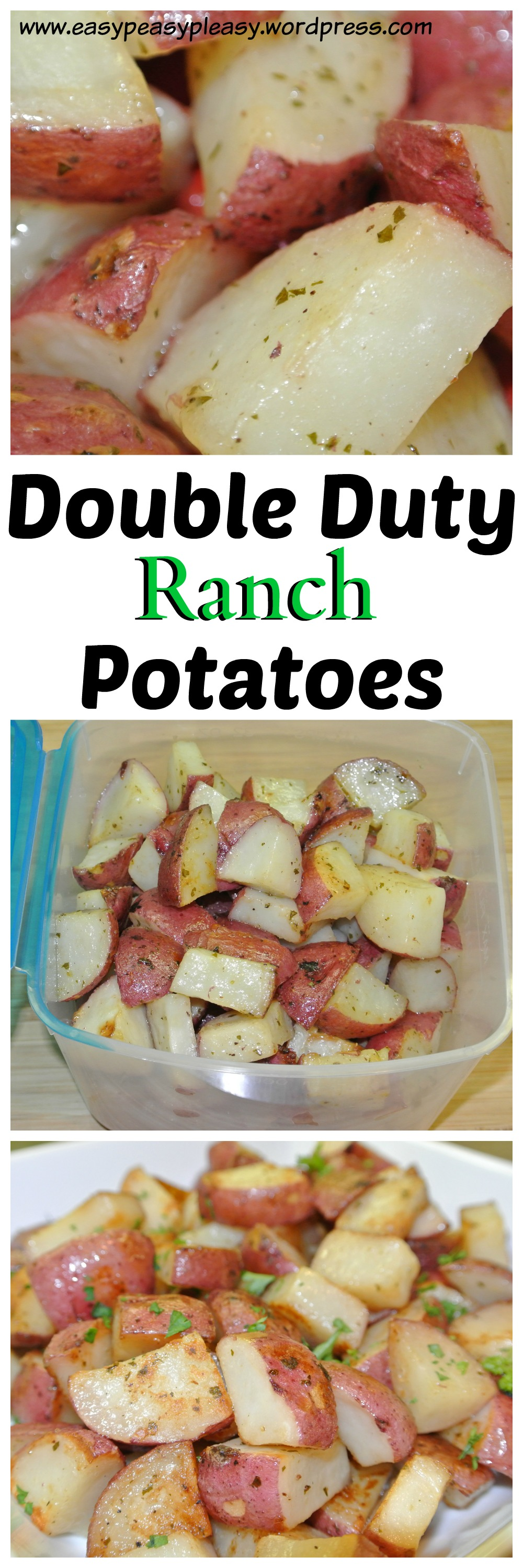Double Duty Ranch Potatoes Recipe Idea found at https://easypeasypleasy.com