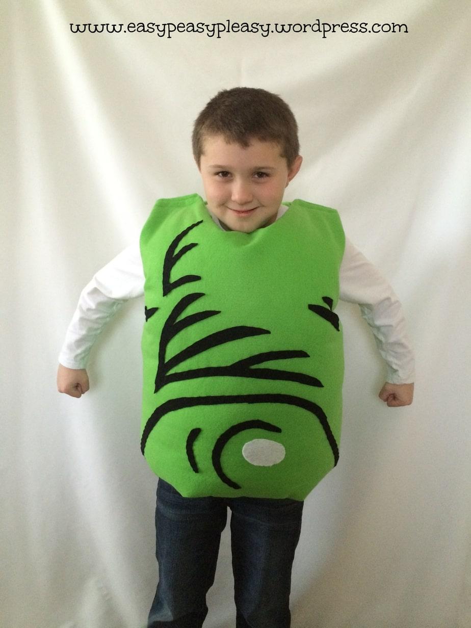 Dr. Seuss Green Eggs and Ham Costume for Sam I Am! Check out https://easypeasypleasy.com