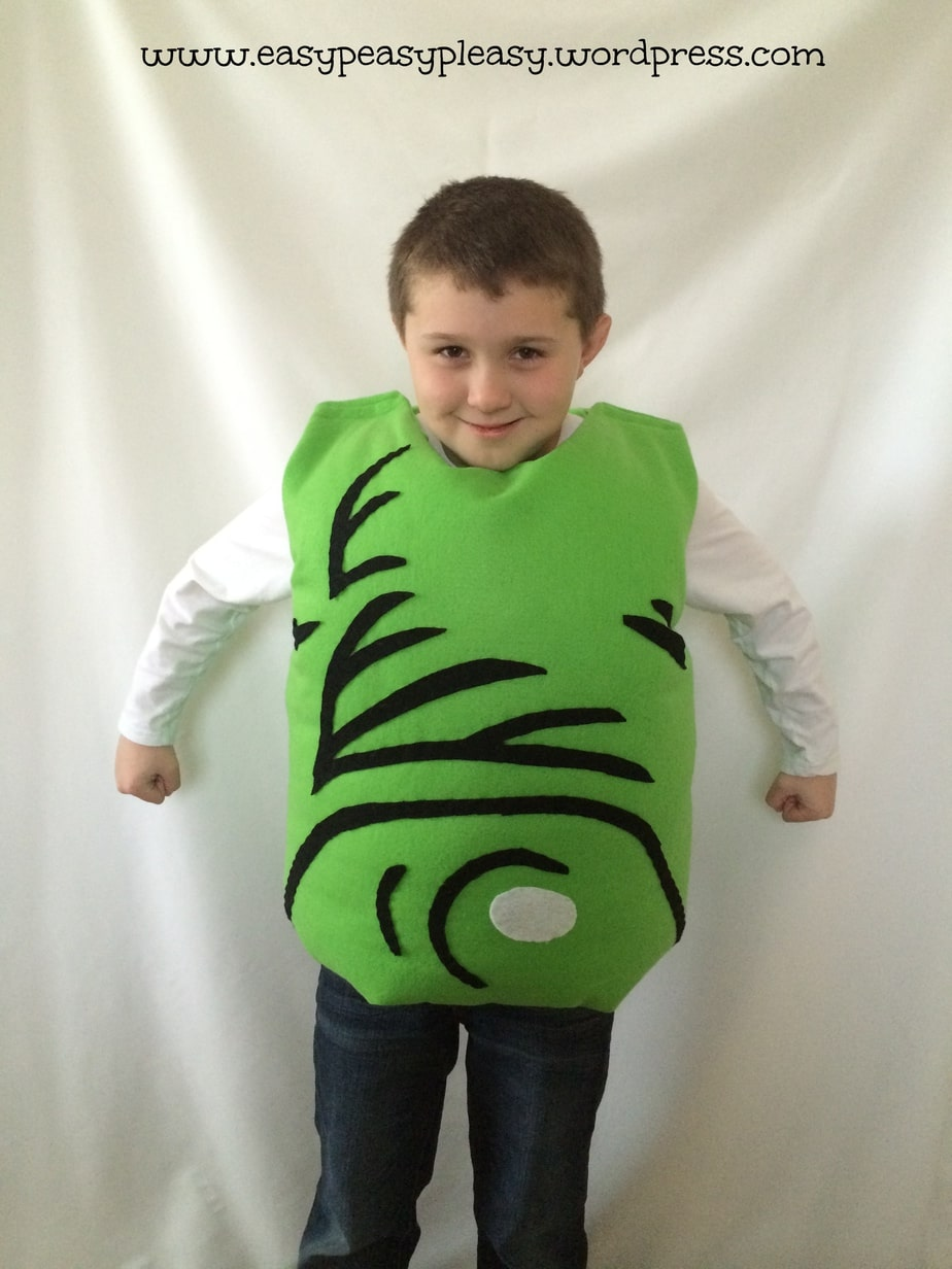 Dr. Seuss Green Eggs and Ham Costume for Sam I Am! Check out https://easypeasypleasy.com