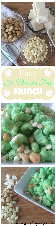 Easy St. Patrick's Day Snack Munch at https://easypeasypleasy.com