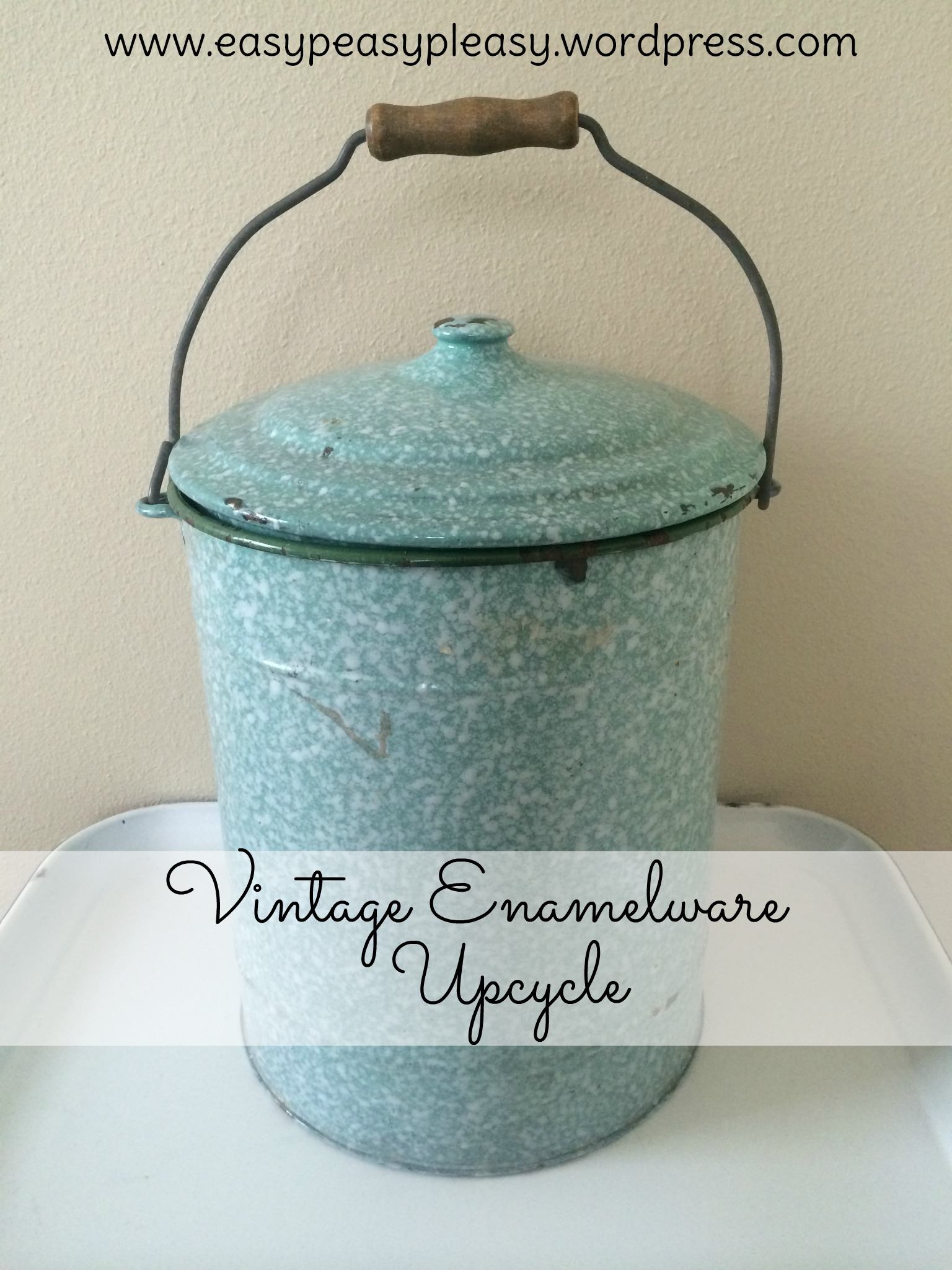 For more Vintage Enamel Upcycle Ideas check out https://easypeasypleasy.com