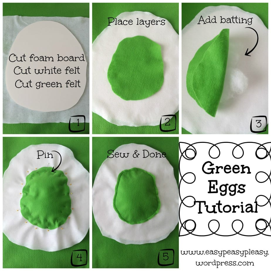 Green Eggs Tutorial For Dr Seuss Sam I Am And Ham Costume Collage