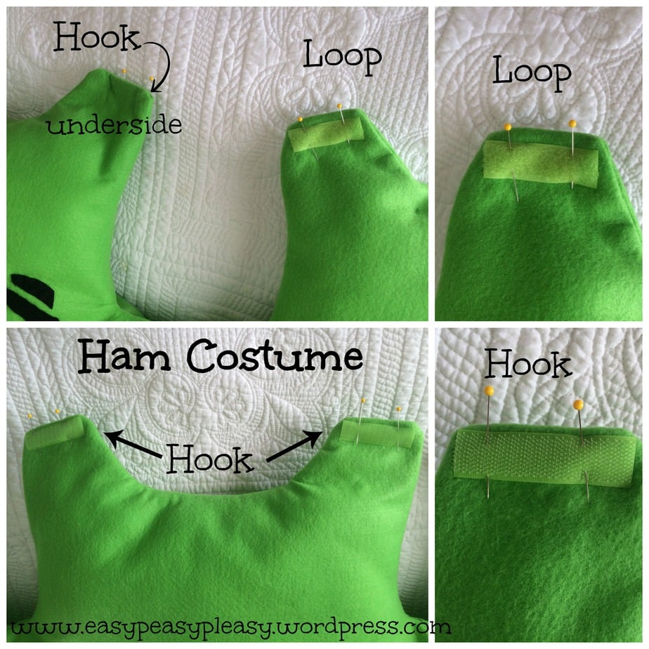 Ham Costume velcro Dr. Seuss Sam I Am Green Eggs and Ham collage