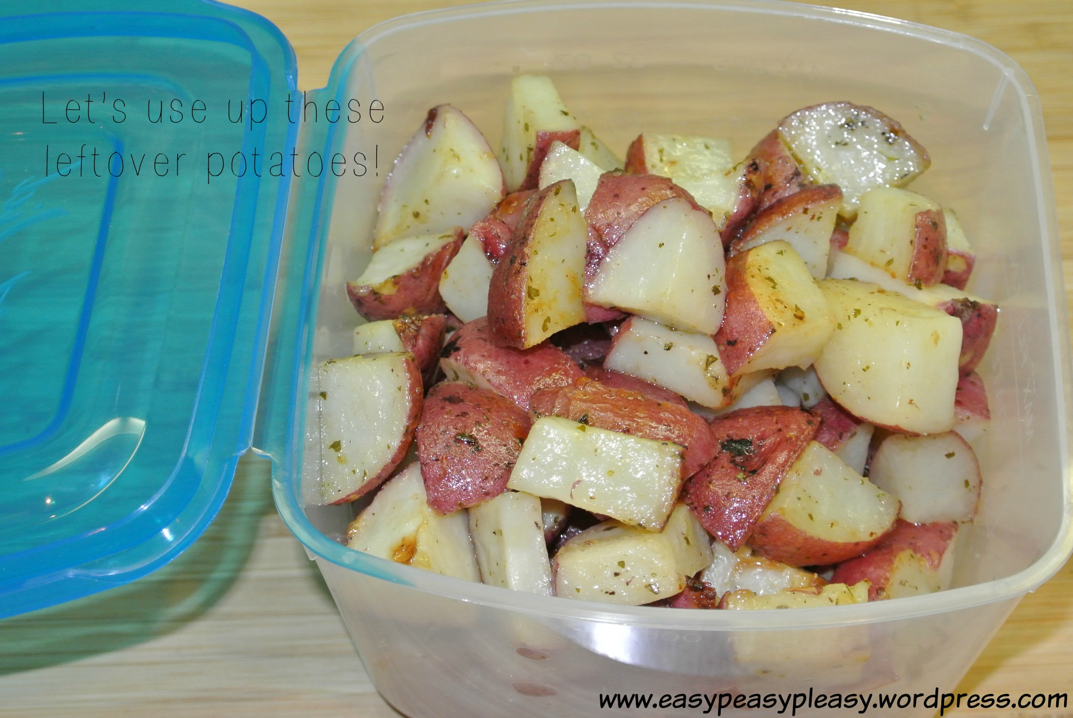 How to use up leftover potatoes as a double duty recipe idea at https://easypeasypleasy.com