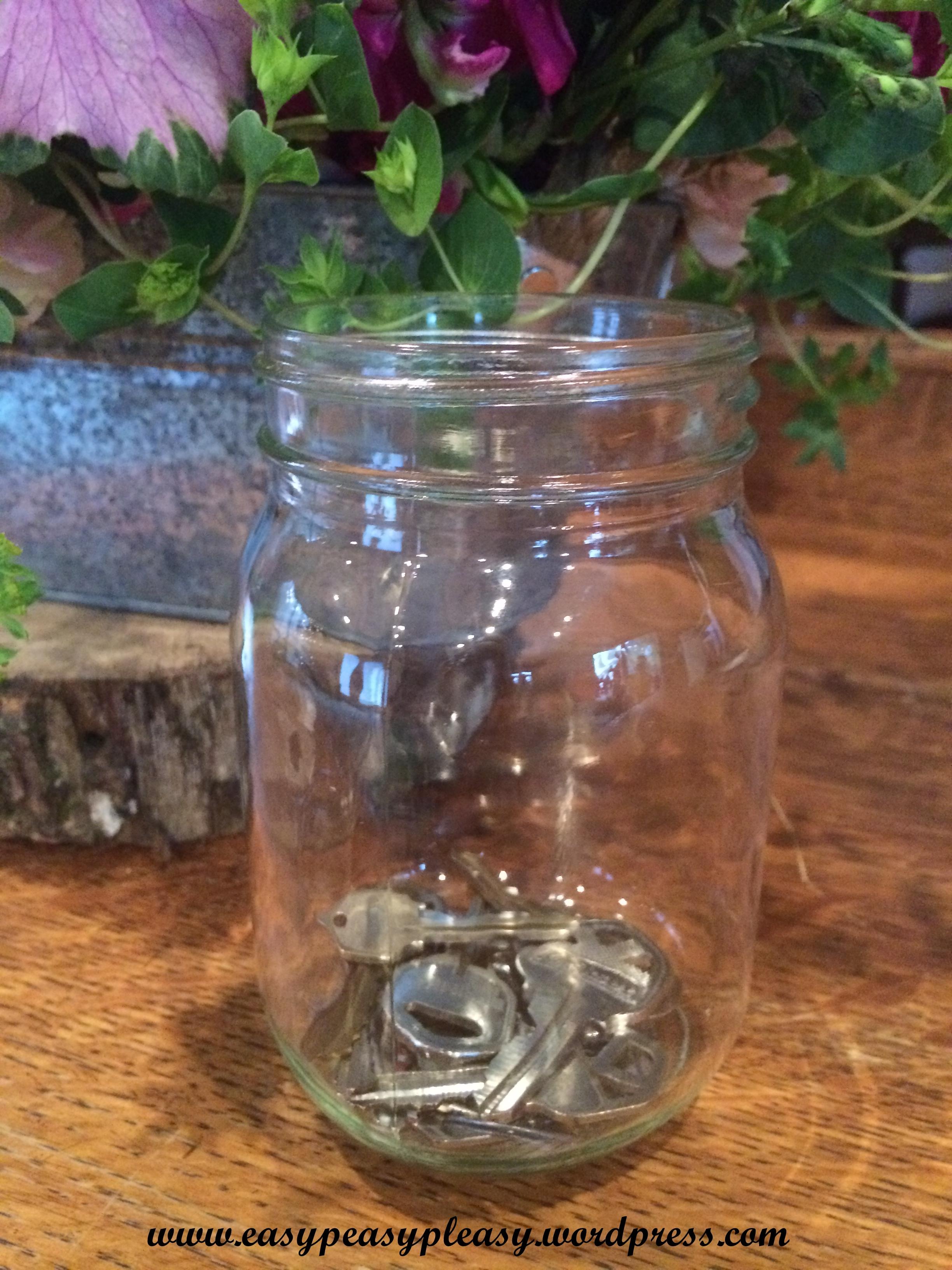 Kevin and Ashley's Wedding Mason Jar of Keys