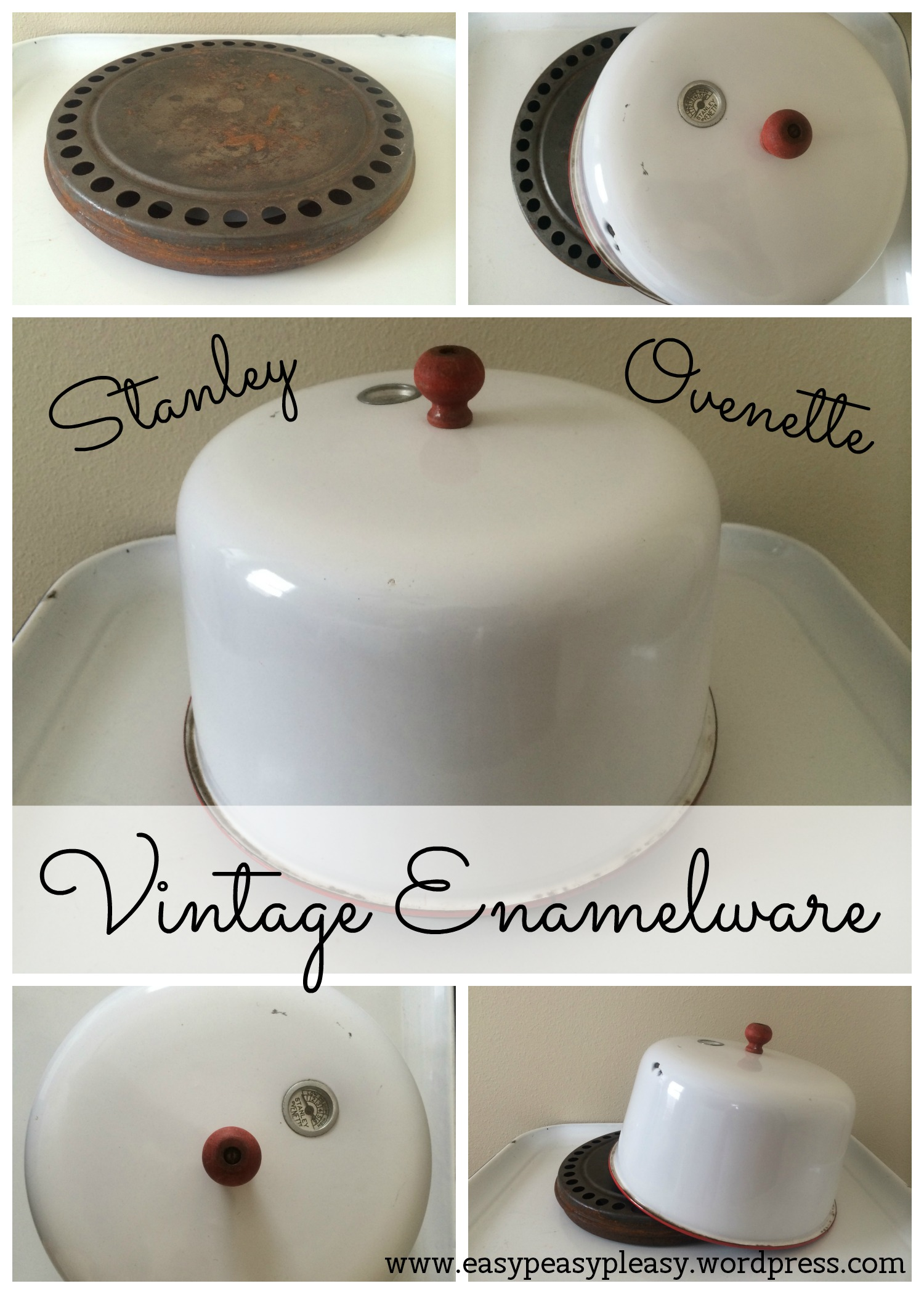 Learn More about this Vintage Enamelware Stanley Ovenette at https://easypeasypleasy.com