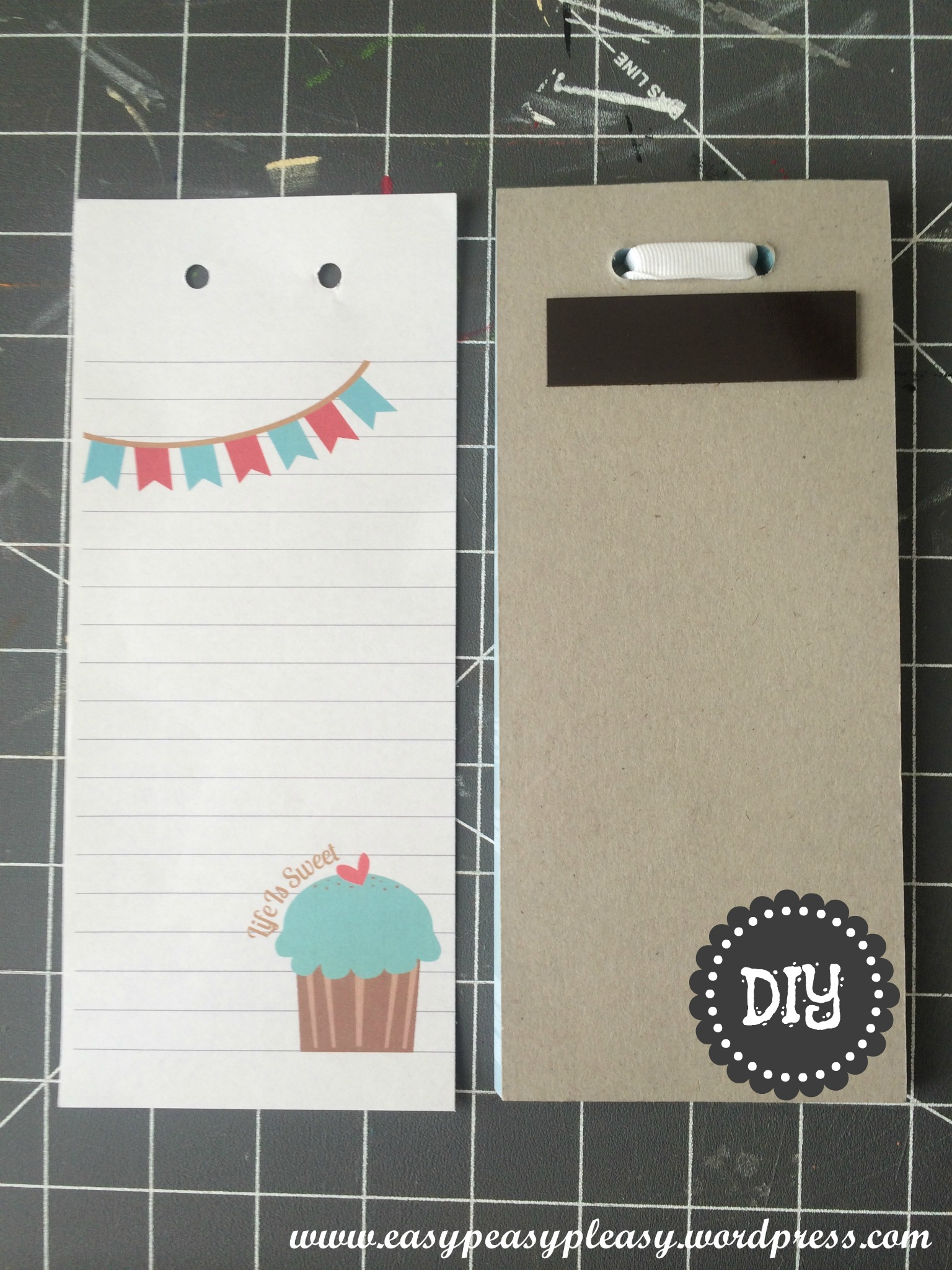Life Is Sweet Refrigerator Notepad free printable and DIY Instructions